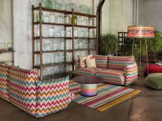 Poppies Outdoor Collection from the Missoni Home 2015 Collection || Image courtesy of Missoni Home