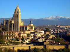 Segovia city, cathedral and Guadarrama Mountains, Spain by Locutus Borg World Most Beautiful Place, Beautiful Places, Time Travel, Places To Travel, Travel Channel, Grand Tour, Travel Memories, Historical Sites, Great Places