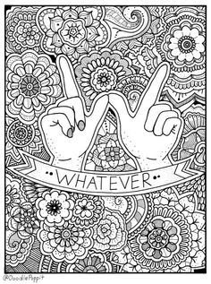 Cute insult calming coloring page with ornaments. by PaperBro | Art ...