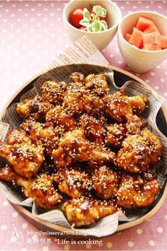 보기만 해도 군침도는 카라멜닭봉강정 : 네이버 블로그