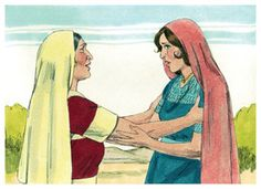 FreeBibleimages :: The story of Ruth - part 1 :: When famine hits Bethlehem, Elimelek and Naomi take their two sons, Mahlon and Kilion to live in Moab. One of the sons marries Ruth, a Moabite (Ruth The Story Of Ruth, Book Of Ruth, Ruth Bible, Jesus Bible, Daughter In Law, Mother In Law, Daughters, Ruth 1, Religion