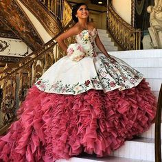 The Mexican designer Adan Terriquez has reinvented quinceañera dresses trends with great passion. Check out the latest trends on dresses.