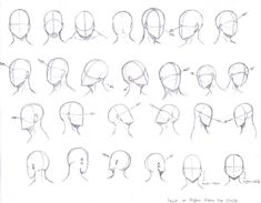 Head Angles by KCSteiner.deviant… on Head Angles by KCSteiner.deviant… on Head Angles, Face Angles, Drawing Techniques, Drawing Tips, Manga Drawing Tutorials, Art Drawings Sketches, Cool Drawings, Pencil Drawings, Eye Drawings
