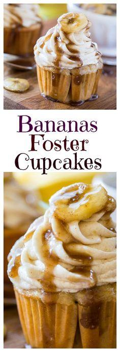 Cupcakes Bananas Foster Cupcakes (sweets & desserts) looks delectable.Bananas Foster Cupcakes (sweets & desserts) looks delectable. Cupcake Recipes, Cupcake Cakes, Baking Recipes, Dessert Recipes, Muffin Cupcake, Cupcake Ideas, Banana Cupcakes, Yummy Cupcakes, Mocha Cupcakes