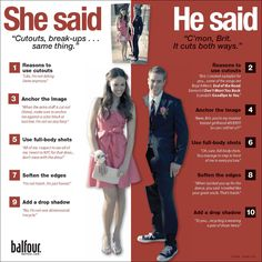 INFO GRAPHIC: She Said, He Said this would be good for a dance like prom or formal get the perspectives of both genders