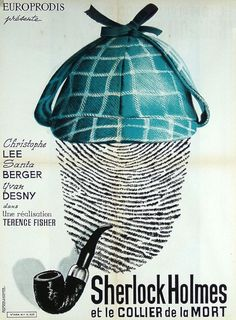 French Poster for Sherlock Holmes and the Deadly Necklace (Terence Fisher, West Germany, 1962)
