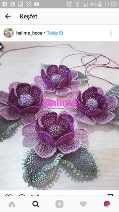 This post was discovered by Varvara Teresa Ohannesoğlu. Discover (and save!) your own Posts on Unirazi. Flower Crafts, Diy Flowers, Crochet Flowers, Cutwork Embroidery, Embroidery Patterns, Muslim Prayer Mat, Serger Sewing, Crochet Borders, Needle Lace