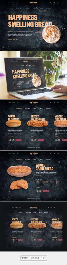 Case Study: Vinny's Bakery. UI Design for E-Commerce. - created via https://pinthemall.net