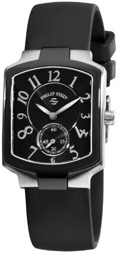Philip Stein Women's 21TB-FB-RB Classic Black Rubber Strap Watch ** Read more reviews of the product by visiting the link on the image.