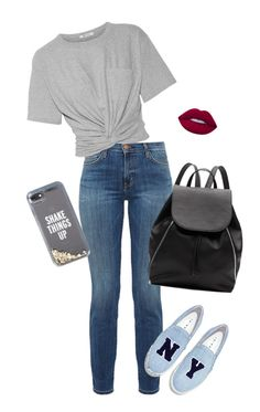 """""""casual"""" by indiemess1 ❤ liked on Polyvore featuring Current/Elliott, T By Alexander Wang, Joshua's, Kate Spade, Lime Crime, Witchery, Spring, cute, casual and ootd"""