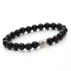 2015 Hot Pulseras mujer Lava stone buddha beads bracelet elastic charm bracelet rope chain Natural stone for men and women F2828