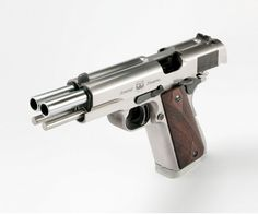 Arsenal Firearms 2011 Second Century Double Barrel Pistol ACP] Self Defense Weapons, Weapons Guns, Guns And Ammo, 1911 Pistol, Revolver, Double Barrel, Custom Guns, Fire Powers, Making Life Easier