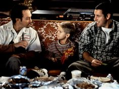 Nazo the Delivery Guy (Rob Schneider), Julian McGrath (Cole Sprouse/Dylan Sprouse), Sonny Koufax (Adam Sandler) ~ Big Daddy ~ Movie Stills ~ Great Movies On Netflix, 18 Movies, Daddy Movie, Adam Sandler Movies, Guess The Movie, Star Wars, Movies Worth Watching, Big Daddy, Music Tv