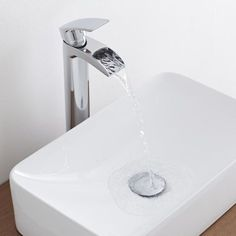 Add a chic designer touch your bathroom with the Milano Waterfall high rise basin mixer tap Bathroom Shop, Big Bathrooms, Bathroom Toilets, Bathroom Inspo, Bathroom Inspiration, Modern Bathroom, Bathroom Ideas, Countertop Basin, Countertops