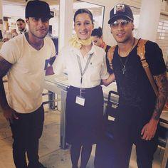 Ney, Rafinha e fã hoje no Aeroporto ❤