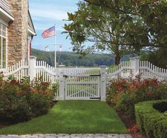 Custom Chestnut Hill Picket Fence with Walk Gate | Wood, Solid Cellular PVC, Metal and Hollow Vinyl Fences from Walpole Woodworkers