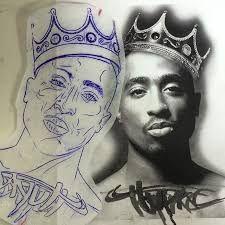 Resultado de imagem para 2pac portrait tattoo