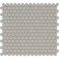 MS International Gray Glossy Penny Round 12.4 in. x 11.57 in. x 10 mm Porcelain Mesh-Mounted Mosaic Tile (19.93 sq. ft. / case)