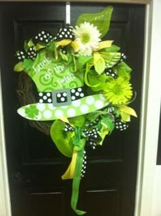 Saint Patricks Day Whimsical Wreath