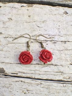 Check out this item in my Etsy shop https://www.etsy.com/listing/512039799/red-rose-earrings