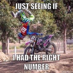 Motorcycle memes autos Ideas for 2019 Dirtbike Memes, Motocross Funny, Motocross Quotes, Dirt Bike Quotes, Motocross Love, Motorcycle Memes, Motorcycle Dirt Bike, Biker Quotes, Motocross Bikes
