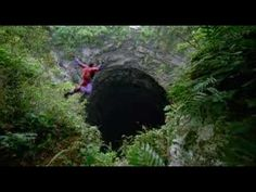 Sotano De Las Golondrinas or Cave Of Swallows is a massive shaft in Mexico. It is a popular venue for base jumping since the shaft is wide enough at the bottom to be able to safely parachute down.