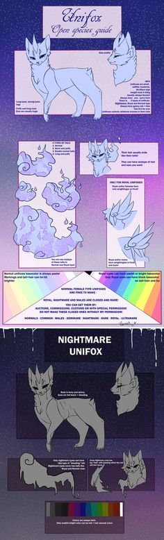 UNIFOX - OPEN SPECIES GUIDE by Piannen on DeviantArt