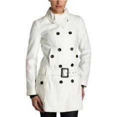 A. Byer Junior's Euro Chic Style Fine Design Melton Coat., Winter White, Medium (Apparel) via Realadriatic.com