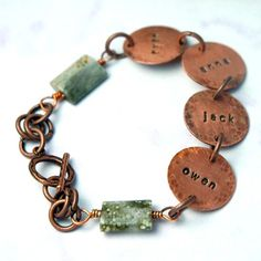 Mommy bracelet from @Lisa Lehmann. She's genius at jewelry design. Super cute for your mother