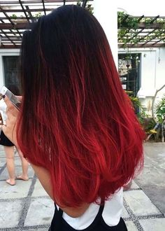 Cabello hair в 2019 г. hair, hair styles и dyed hair Ombré Hair, Dye My Hair, Dyed Red Hair, Dyed Ends Of Hair, Violet Hair, Tip Dyed Hair, Hair Dye Colors, Cool Hair Color, Red Ombre Hair Color