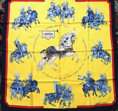 Authentic Hermes Silk Scarf Carrousel 1984 by LinensandThings, $325.00