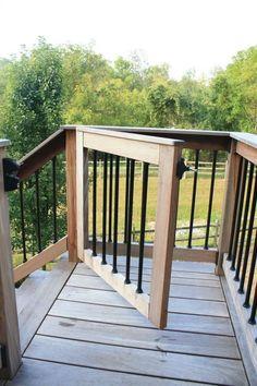 Install a gate at the top of a potentially dangerous staircase, we've got you covered. Our Lancaster County deck builders can help to secure your new deck or staircase to ensure safety for both your little ones and furry friends alike. Rustic Deck, Villa, Building A Porch, Deck Building Plans, Deck Builders, Cool Deck, New Deck, Deck Railings, Deck Stairs