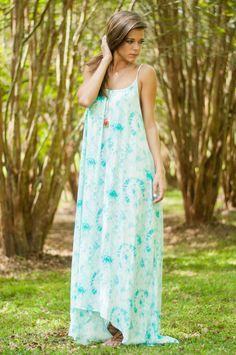 Celestial Sights Maxi Dress, Aqua