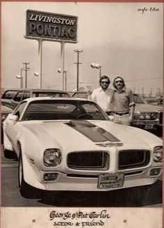 George Carlin buys a car at Livingston Pontiac in Woodland Hills, Ca. in 1970  _=_ Who would've known Ole George had such god taste in cars ...??  !!