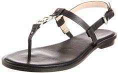 Michael Kors Sondra Sandal Womens Size 9 Black Leather Thongs Shoes New/Display MICHAEL Michael Kors. $89.10