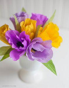 DIY : des fleurs en papier crépon