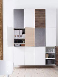 Ivar 3 Section Shelving Unit W Cabinets Pine Pine