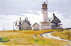 Edward Hopper - Painting & New Realism - Highland Light (North Truro, Massachusetts), 1930.