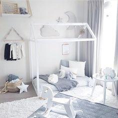 by @tamraellis #housebed #nurserydecor #nurseryideas #nurseryinspiration…