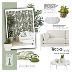 """""""Tropical Prints"""" by cruzeirodotejo ❤ liked on Polyvore featuring interior, interiors, interior design, home, home decor, interior decorating, Wyld Home, Williams-Sonoma, One Bella Casa and Home"""