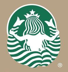 Starbucks logo - back view