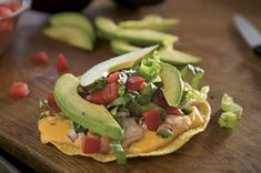 Chicken Tostadas de Queso recipe, use the gluten free corn tostadas.