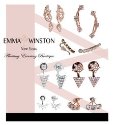"""Emma Winston Floating Earrings"" by julietacelina on Polyvore featuring Hudson Collection"