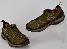 Patagonia Women's Size 6 Bly Deep Green Suede Leather Trail Hiking Shoes  #Patagonia #WalkingHikingTrail