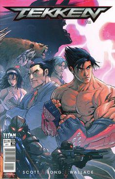 Tekken Cover D Variant Andie Tong Cover King Of Fighters, Tekken Wallpaper, Comic Book Covers, Comic Books, Tekken 4, Street Fighter Tekken, Videogames, Jin Kazama, Gamer 4 Life