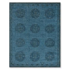 Blue Blossom Hand Knotted Rug #williamssonoma $1895 8 x 10