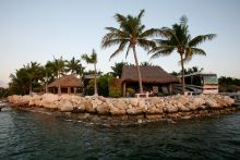 Florida Keys RV resort.  Each site is waterfront and has a tiki hut!