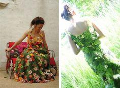 Dresses+Made+Out+of+Flowers   vestido floral 640x470 Moda vegetal