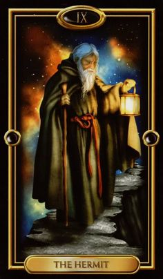 Tarot~The Hermit~ a phase of introspection where you are drawing your attention and focus inward and looking for answers within. You have a strong need to understand, not just at the surface level but to really know why life is the way it is. The Hermit reflects that your consciousness has moved inward and you now realize that the truth and understanding you seek is within yourself and not in the distractions of the outside world.