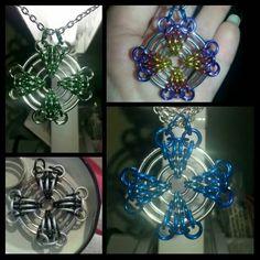 Cool design!! Concentric circles, celtic cross sort of motif, flat.